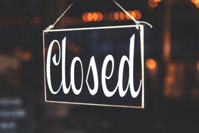 Geschäft geschlossen